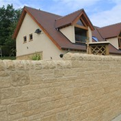 Cotswold village case study with sadleback capping