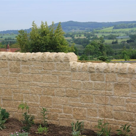 Cotswold village case study with walling stones