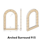 Arched brick surround diagram