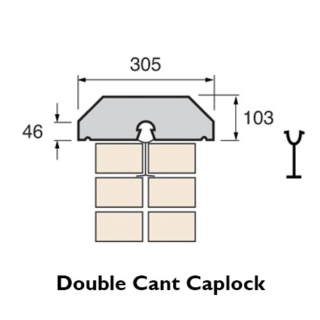 cast stone double cant caplock