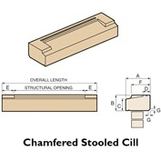 chamfered stool slip cill