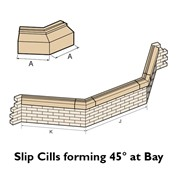 45 degree forming cast stone slip cill