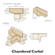 Chamfered cast stone corbel
