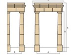 cast stone portico without balustrade