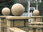 Concrete spheres for walls
