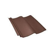 Pan8 roof tile, brown