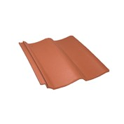 Pan8 roof tile, red
