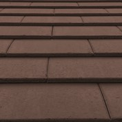 Material colour and finish sample-brown roof tiles