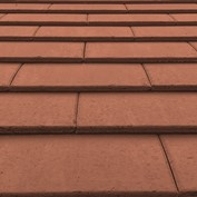 Material colour and finish sample-red roof tiles