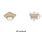 cast stone column components