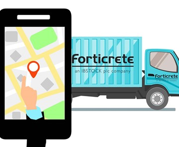Forticrete location graphic
