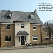 Forticrete Hardrow slates used in Dark Grey - David Wilson Homes, West Yorkshire