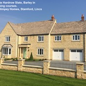 Forticrete Hardrow Slates in Barley in use - Taylor Wimpey Stamford Manor, Stamford